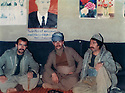 Iraq 1985 .In the office of Kurdistan Socialist Democratic Party near Erbil .Irak 1985 .Dans un bureau du parti socialiste democratique du Kurdistan pres d'Erbil