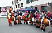 Büttelborner Reit- und Ponyverein läuft gemeinsam als Pferd mit - Büttelborn 11.02.2018: Rosensonntagsumzug der BCA