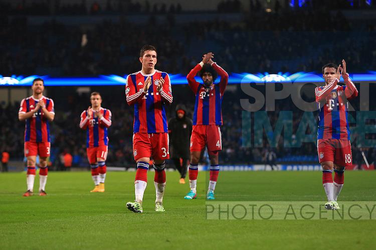Munich applaud their fans - Manchester City vs. Bayern Munich - UEFA Champion's League - Etihad Stadium - Manchester - 25/11/2014 Pic Philip Oldham/Sportimage