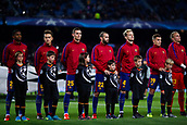5th December 2017, Camp Nou, Barcelona, Spain; UEFA Champions League football, FC Barcelona versus Sporting Lisbon; Fc Barcelona during the UEFA anthem