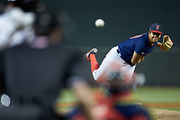 Salem Red Sox starting pitcher Bryan Mata (34) delivers a pitch to the plate against the Winston-Salem Dash at BB&T Ballpark on April 20, 2018 in Winston-Salem, North Carolina.  The Red Sox defeated the Dash 10-3.  (Brian Westerholt/Four Seam Images)