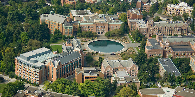 Aerial of Science buildings at University of Washington Seattle