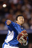 In-Sung Cho of Korea during the World Baseball Championships at Angel Stadium in Anaheim,California on March 15, 2006. Photo by Larry Goren/Four Seam Images