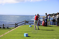 Kevin Streelman (USA) tees off the par3 7th tee at Pebble Beach Golf Links during Saturday's Round 3 of the 2017 AT&amp;T Pebble Beach Pro-Am held over 3 courses, Pebble Beach, Spyglass Hill and Monterey Penninsula Country Club, Monterey, California, USA. 11th February 2017.<br /> Picture: Eoin Clarke | Golffile<br /> <br /> <br /> All photos usage must carry mandatory copyright credit (&copy; Golffile | Eoin Clarke)