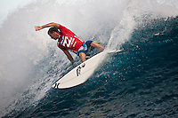 ADRIAN BUCHAN (AUS)  TEAHUPOO, Tahiti (Wednesday, May 13, 2009) - The 2009 Billabong Pro Tahiti presented by Air Tahiti Nui continued today with the remaining two heats of Round One and the first six heats of Round two. The contest was put on hold till 11 am when Heat 15 began. The contest was put back on hold at the end of Heat 16 after a wind and rain squall blew through the site and conditions became unsurfable. It was restarted at 2 pm and ran till dark in windy 1-5 meter waves...The event is Stop No. 3 of 10 on the 2009 ASP World Tour and boasts a waiting period from May 9 through May 20, 2009. .The contest brings together 45 of the world's best surfers charging the heaviest wave on earth in one of the most pristine locations on the planet..This year's event will run the new format, seeding all competitors directly into man-on-man elimination heats, with the Top 16 seeded directly into Round 2 while the remaining surfers battle it out in Round 1...Photo: joliphotos.com