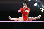 Yurika Yumoto (JPN), <br /> AUGUST 21, 2018 - Artistic Gymnastics : <br /> Women's Individual All-Around Uneven Bars <br /> at JIEX Kemayoran Hall D <br /> during the 2018 Jakarta Palembang Asian Games <br /> in Jakarta, Indonesia. <br /> (Photo by Naoki Nishimura/AFLO SPORT)