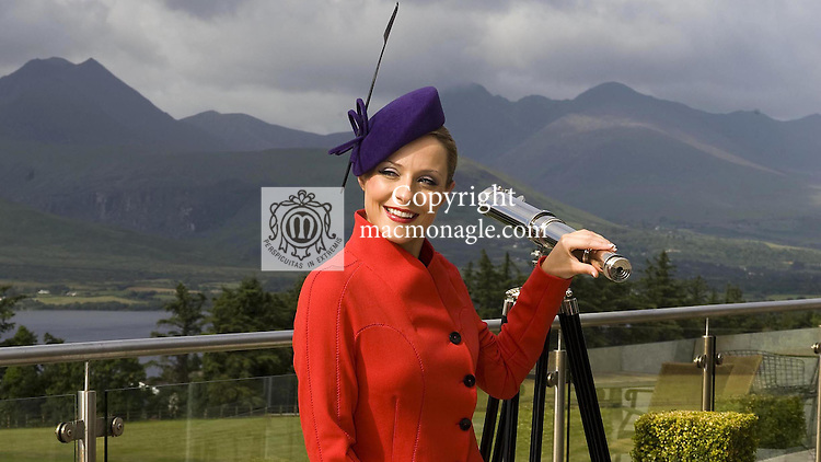Joanne O'Connor's models some Killarney fashion designs at the Aghadoe Heights Hotel, Killarney 2008.<br /> Picture by Don MacMonagle