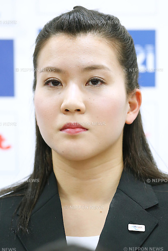 Kanami Nakamaki (JPN), <br /> FEBRUARY 23, 2015 - Swimming : <br /> a press conference to announce the Synchronized swimming Japan national team of the 91st Japan Championships swimming  competitions at National Training Center, Tokyo, Japan. <br /> (Photo by Sho Tamura/AFLO SPORT)