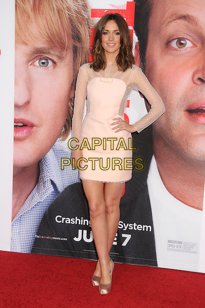 Rose Byrne<br /> &quot;The Internship&quot; Los Angeles Premiere held at the Regency Village Theatre, Westwood, California, USA.<br /> May 29th, 2013<br /> full length white cream sheer dress pink hand on hip<br /> CAP/ADM/BP<br /> &copy;Byron Purvis/AdMedia/Capital Pictures