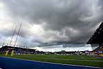 Dark clouds roll in over Allianz Park - Rugby Union - 2014 / 2015 Aviva Premiership - Saracens vs. Gloucester - Allianz Park Stadium - London - 11/10/2014 - Pic Charlie Forgham-Bailey/Sportimage