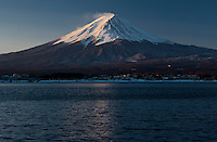 A snow capped Mount Fuji from Kawaguchiko. Japan, Wednesday February 13th 2008