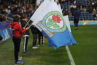 Flag bearer before kick off<br /> <br /> Photographer Kevin Barnes/CameraSport<br /> <br /> The EFL Sky Bet Championship - Blackburn Rovers v Swansea City - Sunday 5th May 2019 - Ewood Park - Blackburn<br /> <br /> World Copyright © 2019 CameraSport. All rights reserved. 43 Linden Ave. Countesthorpe. Leicester. England. LE8 5PG - Tel: +44 (0) 116 277 4147 - admin@camerasport.com - www.camerasport.com