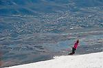 Mt Rose ski tahoe groomers and resort views