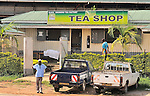A tea shop in the heart of tea farms in western Uganda