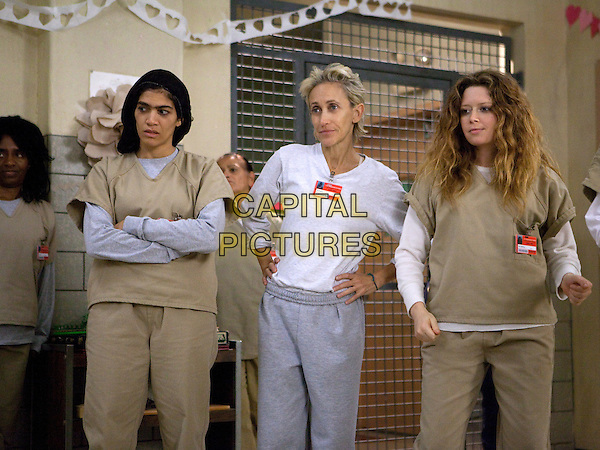 Laura Gomez, Constance Shulman and Natasha Lyonne<br /> in Orange Is the New Black (2013&ndash; ) <br /> (Season 2)<br /> *Filmstill - Editorial Use Only*<br /> CAP/NFS<br /> Image supplied by Netflix/Capital Pictures