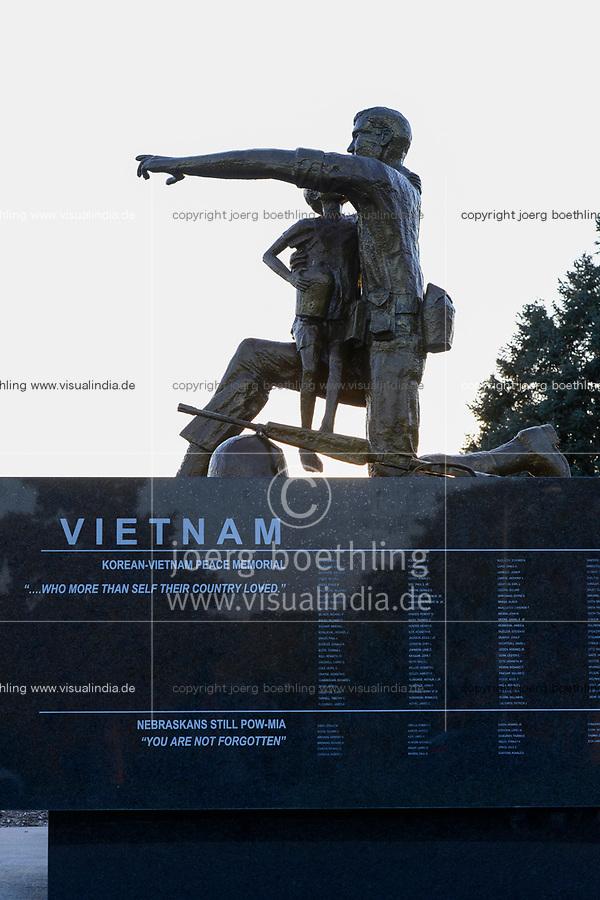 USA, Nebraska, Omaha, Vietnam and Korea war memorial