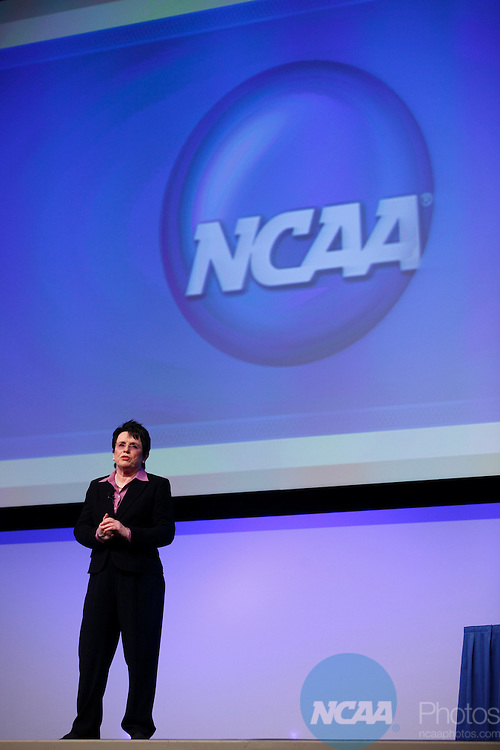 2009 Jan 15: Billie Jean King addresses the crowd after receiving the Gerald R. Ford Award at the 2008 NCAA Convention at the Gaylord National Resort and Convention Center in National Harbor, MD.  ©Trevor Brown, Jr./NCAA Photos.