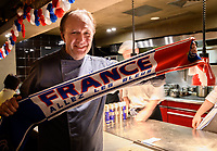 Melbourne, July 14, 2018 - Philippe Mouchel celebrates Bastille Day which is also the eve of the FIFA World Cup final between France and Croatia at Philippe Restaurant in Melbourne, Australia. Photo Sydney Low