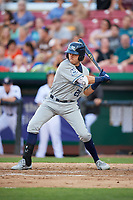 West Michigan Whitecaps second baseman Kody Clemens (21) at bat during a game against the Kane County Cougars on July 19, 2018 at Northwestern Medicine Field in Geneva, Illinois.  Kane County defeated West Michigan 8-5.  (Mike Janes/Four Seam Images)