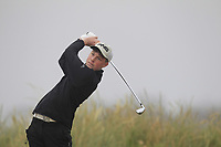 Liam Power (Galway) on the 1st tee during Round 1 - Matchplay of the North of Ireland Championship at Royal Portrush Golf Club, Portrush, Co. Antrim on Wednesday 11th July 2018.<br /> Picture:  Thos Caffrey / Golffile