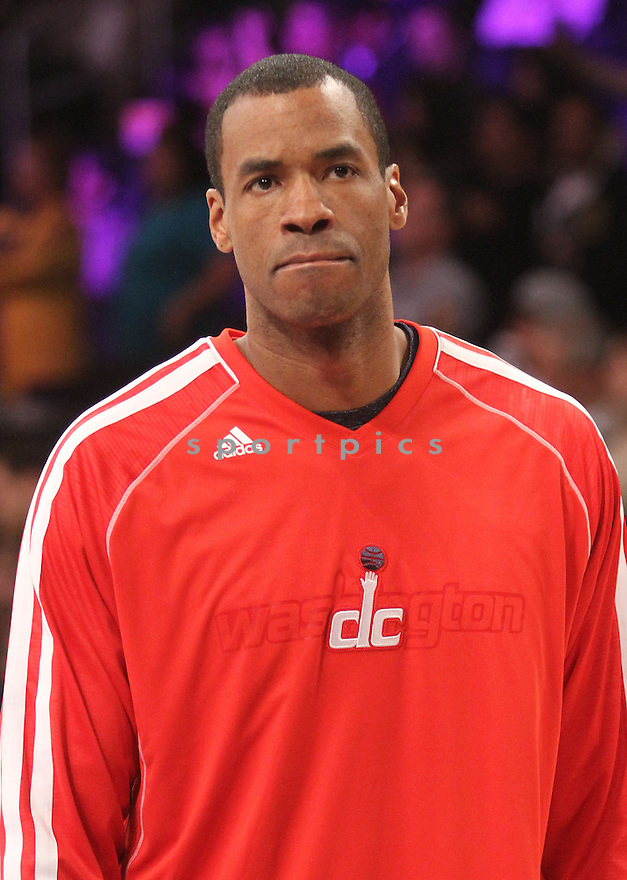 Washington Wizards Jason Collins (98) during a game against the LA Lakers on March 22, 2013 at the Staples Center in Los Angeles, CA. Wizards beat the Lakers 103-100.