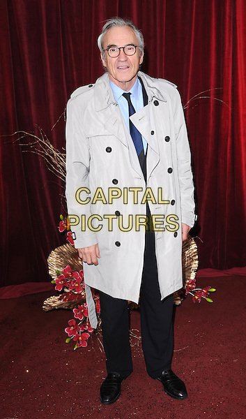 LARRY LAMB.Arrivals at the British Soap Awards 2010, London Television Centre, London, England..May 8th, 2010.full length blue beige jacket trenchcoat trench coat glasses black trousers.CAP/BEL.©Tom Belcher/Capital Pictures.