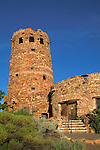 The Watchtower adobe building Desert View Grand Canyon National Park Arizona