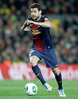 FC Barcelona's Cesc Fabregas during Copa del Rey - King's Cup semifinal second match.February 26,2013. (ALTERPHOTOS/Acero) /NortePhoto