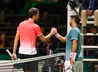 Rotterdam, The Netherlands, 14 Februari 2019, ABNAMRO World Tennis Tournament, Ahoy, Fernando Verdasco (ESP) - Daniil Medvedev (RUS),<br /> Photo: www.tennisimages.com/Henk Koster