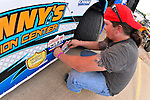 May 22, 2014; 4:50:36 PM; Wheatland, Mo., USA; The  Lucas Oil Late Model Dirt Series running the 22nd Annual Lucas Oil Show-Me 100 Presented by ProtectTheHarvest.com.  Mandatory Credit: (thesportswire.net)