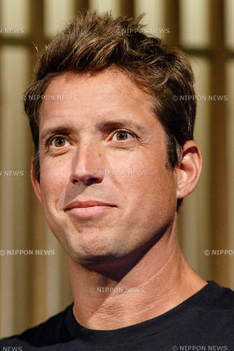 GoPro CEO Nick Woodman attends the presentation of company's new Hero 7 Black camera on September 25, 2018, Tokyo, Japan. The new Hero 7 Black is being promoted as a gimbal killer with its new HyperSmooth filming feature. The top of the range Black model will cost JPY 53,460 in Japan and there are two cheaper Silver and White versions which will be released at the same time. (Photo by Rodrigo Reyes Marin/AFLO)