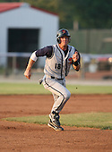 2007:  Nick Stillwagon of the State College Spikes runs to third during a game vs. the Batavia Muckdogs in New York-Penn League baseball action.  Photo copyright Mike Janes Photography 2007.