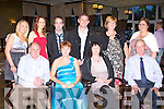 CRYSTAL SWING: Member's of the organising committee of the Crystal Swing concert in aid of the Kerry Cancer Support Group enjoying a great time at the Earl of Desmond hotel on Friday seated l-r: Sean Prendergast, Mary Lynch, Annette O'Leary and Paul Horan. Back l-r: Caroline and Emer Lynch, Nicholas Barry, David O'Mahony, Trish Horan and Mairead Murphy.