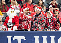 ATLANTA, GA - DECEMBER 7: Georgia fans cheer for their team during a game between Georgia Bulldogs and LSU Tigers at Mercedes Benz Stadium on December 7, 2019 in Atlanta, Georgia.