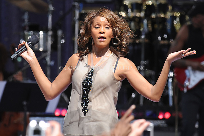 WWW.ACEPIXS.COM . . . . . ....September 1 2009, New York City....Singer Whitney Houston  performed in Central Park on ABC's 'Good Morning America' on September 1 2009 in New York City....Please byline: KRISTIN CALLAHAN - ACEPIXS.COM.. . . . . . ..Ace Pictures, Inc:  ..tel: (212) 243 8787 or (646) 769 0430..e-mail: info@acepixs.com..web: http://www.acepixs.com
