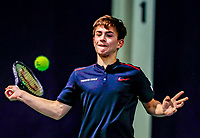 Hilversum, Netherlands, December 3, 2017, Winter Youth Circuit Masters, 12,14,and 16 years, Steffan van Weldam (NED)<br /> Photo: Tennisimages/Henk Koster
