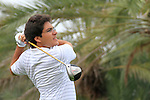 Khalid Yousuf tees off on the 9th tee during Thusday Day 1 of the Abu Dhabi HSBC Golf Championship, 20th January 2011..(Picture Eoin Clarke/www.golffile.ie)