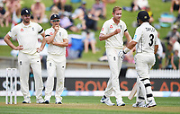 29th November 2019, Hamilton, New Zealand;  Stuart Broad shows his frustration on day 1 of the 2nd international cricket test match between New Zealand and England at Seddon Park, Hamilton, New Zealand. Friday 29 November 2019