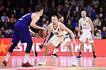 Turkish Airlines Euroleague 2018/2019. <br /> Regular Season-Round 18.<br /> FC Barcelona Lassa vs Panathinaikos Opap Athens: 79-68.<br /> Thomas Heurtel vs Lukas Lekavicius.