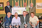 CHEQUE PRESENTATION: Chairman of Tralee Bay Swimming Club Mike Slattery presenting a cheque to the Chairman of Fenit Lifeboat with monies raised at the Maharees to Fenit Challenge Swim at the Oyster Tavern, Spa on Monday front l-r: Ger O'Donnell (Fenit Lifeboat Co-ordinator), Brian Styles (Swim Co-ordinator Tralee Bay S.C.), J.P. Brick (Fenit Lifeboat) and Denis Cronin (Treasurer Tralee Bay S.C.). Back l-r: Rowland Blennerhassett (Chairman Fenit Lifeboat), Mike Slattery (Chairman Tralee Bay S.C.), Kevin Williams (Swim Director Tralee Bay S.C.) and P.J. Costello (President Tralee Bay S.C.).