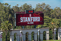 Stanford, CA - September 17, 2016: Stadium during the Stanford vs USC football game at Stanford Stadium. The Cardinal defeated the Trojans 27-10.