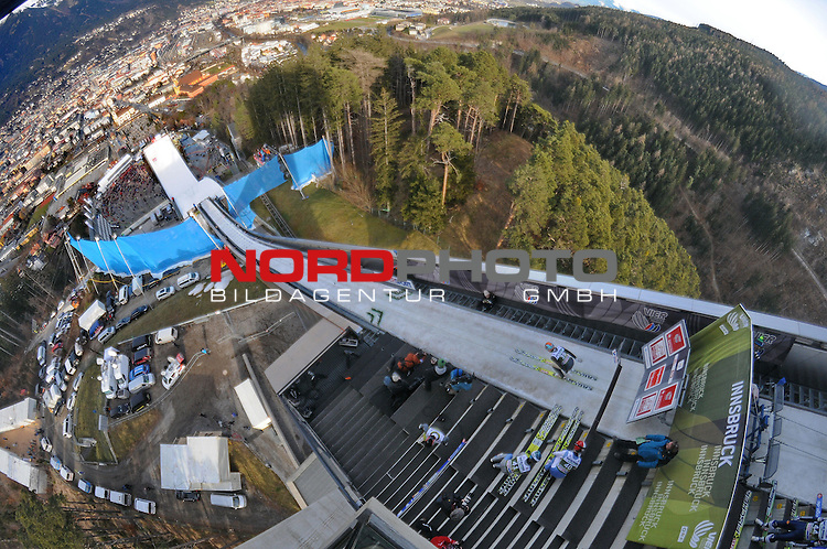 Innsbruck, Austria 03.01.2014 <br /> 2013-14 Vierschanzentournee, <br /> FIS Ski Jumping World Cup <br /> Tom Hilde of Norway in action during the FIS Ski Jumping World Cup Vierschanzentournee on January 3, 2014 in Innsbruck, Austria.<br /> <br /> Foto &not;&copy; nph / Pier Paolo Piciucco