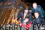 BONFIRE: Ryan Duggan, Frank Lawlor, Tony Halloran and Danny Leen set alight bonfires on Sunday night to welcome home the victorious Ardfert Team..