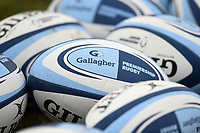 A general view of Gallagher Premiership branded rugby balls. Gallagher Premiership match, between Bath Rugby and Leicester Tigers on December 30, 2018 at the Recreation Ground in Bath, England. Photo by: Patrick Khachfe / Onside Images