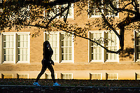 Student pedestrians by Harned<br />  (photo by Megan Bean / &copy; Mississippi State University)