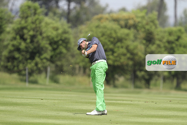 Cyril Bouniol (FRA) on the 18th fairway during Round 1 of the Open de Espana  in Club de Golf el Prat, Barcelona on Thursday 14th May 2015.<br /> Picture:  Thos Caffrey / www.golffile.ie