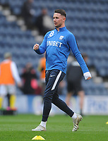 Preston North End's Alan Browne during the pre-match warm-up <br /> <br /> Photographer Kevin Barnes/CameraSport<br /> <br /> The EFL Sky Bet Championship - Preston North End v Leeds United -Tuesday 9th April 2019 - Deepdale Stadium - Preston<br /> <br /> World Copyright &copy; 2019 CameraSport. All rights reserved. 43 Linden Ave. Countesthorpe. Leicester. England. LE8 5PG - Tel: +44 (0) 116 277 4147 - admin@camerasport.com - www.camerasport.com