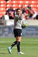 Houston, TX - Sunday Oct. 09, 2016: Kelsey Wys prior to a National Women's Soccer League (NWSL) Championship match between the Washington Spirit and the Western New York Flash at BBVA Compass Stadium.