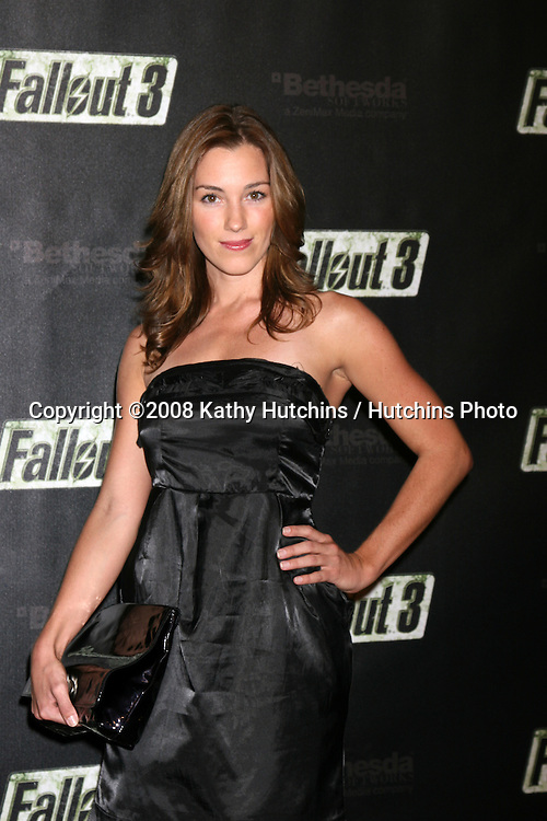 "Carly Craig arriving at the Launch of ""Fallout 3"" Videogame at the LA Center Studios  in Los Angeles, CA.October 16, 2008.©2008 Kathy Hutchins / Hutchins Photo...                ."