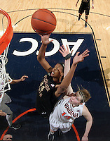 Florida State Seminoles forward Chelsea Davis (34) shoots the ball during the game against Virginia Jan. 12, 2012 in Charlottesville, Va.  Virginia defeated Florida State 62-52.